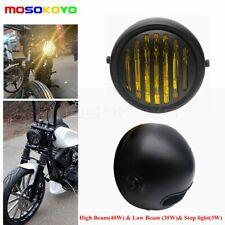 12V Motorcycle Headlight Hi/Lo Beam For Chopper Bobber Cafe Racer Touring Bikes