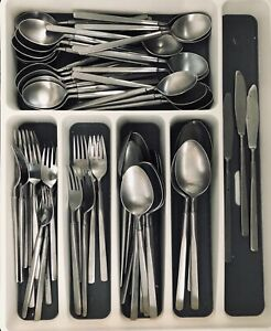 Full Set Excellent Condition Towle SCC Gold Electoplated Stainless Flatware Two Roses TWS215 1970/'s Vintage 1960/'s 49 Pieces