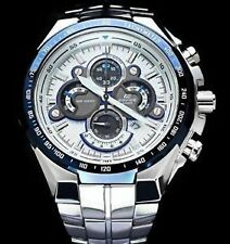 Casio Edifice Blue Ring Dial ef-554d-7avdf Chronograph Men's Watch