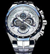 Casio Edifice Blue Ring Dial ef-554d-7avdf Chronograph Men's Watch
