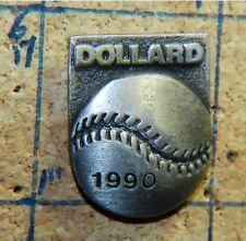 "DOLLARD AMATEUR BASEBALL ASSOC 1990 MONTREAL CANADA PEWTER 1"" PIN"