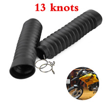 2X 13 Knots Motorcycle Dirt Bike Front Shock Fork Rubber Boots Dust Jacket Cover