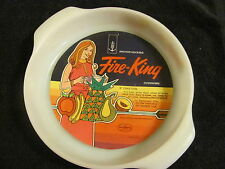 "Vintage Fire King Anchor Hocking 9"" Round Cake Pan Natures Bounty Fruit NOS"