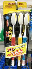 Pack 3 Systema Toothbrush Original Super Soft XL Extra Large Head Size Slim Gum