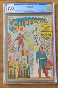 DC Superman 168 CGC 7.0 Lex Luthor JFK - John F Kennedy Memorial Mort Weisinger