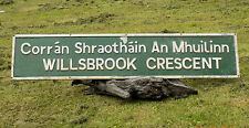 Original Irish Vintage STREET sign WILLSBROOK CRESCENT