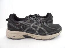 ASICS Men's Gel-Venture 6 Trail Runner Black/Grey/Feather grey Size 7 M