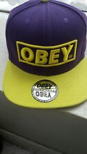 Obey Ladies Girls Snap back Adjustable With Sticker unisex mens boys