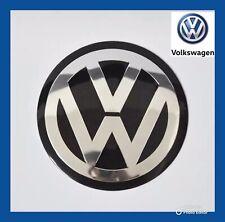 VW VOLKSWAGEN GENUINE METAL 45MM STEERING WHEEL BADGE EMBLEM GOLF POLO PASSAT