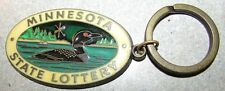 Vintage Minnesota Lottery Keychain - MN Minn