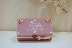 Nanny Gift Keepsake/ Jewellery Box/ Trinket Box, Gift, Nan Birthday, Grandma