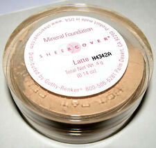 SHEER COVER Mineral Foundation - LATTE (medium complextion) - OPENED - see notes