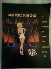 Cool World Original Double Sided 1992 Movie 13X10 Poster Kim Basinger Brad Pitt