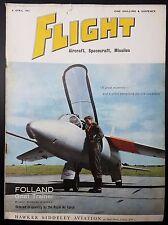 Vintage Flight Magazine, Aircraft, Spacecraft, Missiles- 6 April 1961