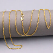 """18K Solid Gold Wheat Chain Necklace 18"""" Necklace GUARANTEED 18KT PURE GOLD"""