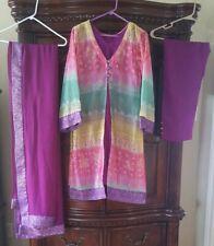 Beautiful Four Piece Pakistani Dress Pre owned
