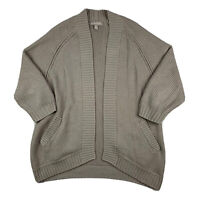 Banana Republic Womens Small Knit Cardigan Sweater Open Front 3/4 Sleeve Beige