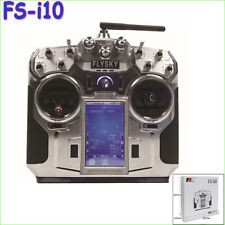 "FlySky FS-i10 2.4G Digital 10 Channel Transmitter & Receiver with 3.55"" screen"