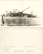 FRENCH RAILWAY ARTILLERY WWI REAL PHOTO POSTCARD ANTIQUE RPPC railroad gun