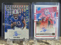 Panini Mosaic Zack Moss RC AUTO Set Of 2 Rated Rookie Donruss Bills Silver Prizm