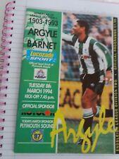 Plymouth Argyle v Barnet, 1993-94