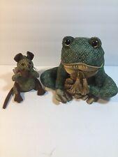 Dora Designs Frog Doorstop & Mouse Paperweight
