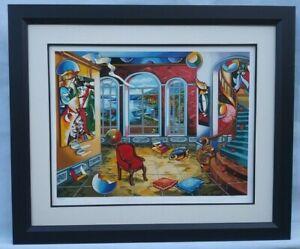 Alexander Astahov Chagall's I And The Village Original Framed Seri S/N