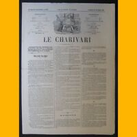 Journal LE CHARIVARI dessin Alfred Grévin 28 février 1874