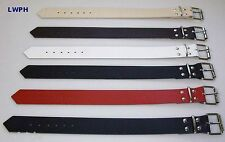 Lederriemen schwarz 4,0 x 60,0 cm lang mit Rollschnalle Befestigungsriemen Neu