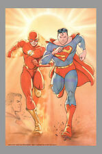 FLASH/SUPERMAN REMARKED Signed Lithograph by Billy Tucci