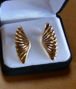 14K SOLID GOLD CLIP ON EARRINGS 3.5 GRAMS