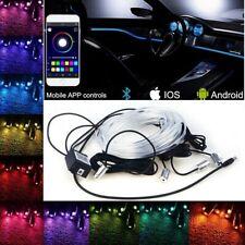 5 Modulen RGB Ambientebeleuchtung LED Fußraumbeleuchtung Lichtleiste 6Meter 12V