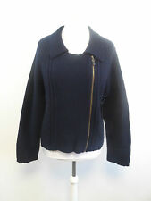 Pure Collection Ribbed Biker Jacket Blue Size XL Box43 02 G