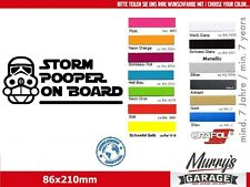 Storm pooper on Board, Baby on Board - JUNGS Aufkleber, Sticker, Autocollant