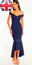 Party Off Shoulder Navy Mermaid Dress  Uk size 12-14