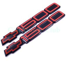 90-93 Chevy SS 454 Door Emblem 1500 Red Black Nameplate 454ss no tabs 2pcs