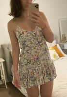 Wishsister Summer Beach Floral Dress S / M 8 - 10 Adjustable Straps