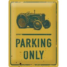 BLECHSCHILD 23210 - TRAKTOR PARKING ONLY - 30x40 cm - NEU