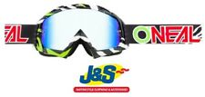 Oneal B-10 Motocross Goggles MX Off-Road Stream BMX Black Green Clear Lens J&S