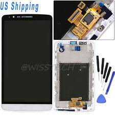 For LG G3 D850 D851 D855 LCD Display Screen Touch Digitizer &Bezel Frame White