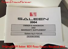 RARE 2004 SALEEN N2O FOCUS OWNERS MANUAL BROCHURE FORD S121 MUSTANG SHELBY GT