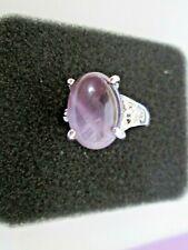 Amethyst Gemstone Stone Rings Silver Plated  SIZE O