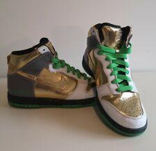 Nike ID Zoom Dunk oficial Servicio Personalizado botas talla 7.5 - Oro Blanco Y Verde