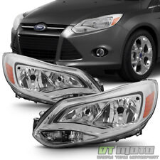 Replacement 2012-2014 Ford Focus Halogen Model Headlights Headlamps Left+Right