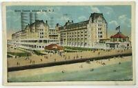 Postcard Atlantic City NJ Hotel Dennis Bird's Eye Beach View 1920's New Jersey
