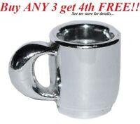 ☀️NEW LEGO MINIFIG SILVER CHROME CUP Belville City Friends Coffee Food Mug Set