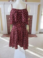 NWT Forever 21 xxi Shirt Length Dress Tunic Top SMALL Brown Sunflower Flounce
