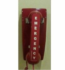 Emergency Red Telephone Preprogrammed To Call 911 When Picked Up