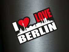 1 x Aufkleber I Love Berlin Skyline Sticker Autoaufkleber Tuning Stickerbomb Fun