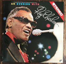 An Evening With Ray Charles LaserVideoDisc Sid Feller RARE I Can See Clearly Now